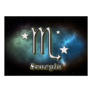 Skorpionssymbol Poster