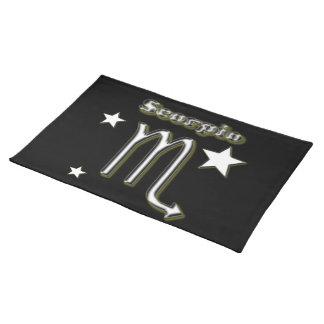 Skorpionssymbol Stofftischset
