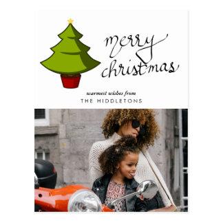 Skript-Feiertags-Foto der frohen Weihnacht-| des Postkarte