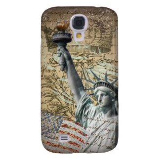 Skript-patriotisches New- Yorkfreiheitsstatue Galaxy S4 Hülle