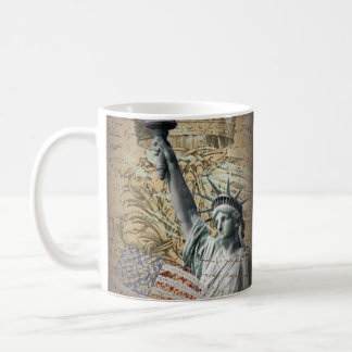 Skript-patriotisches New- Yorkfreiheitsstatue Tasse