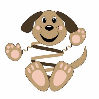 Skrunchkin Hund Rover Photo Statue