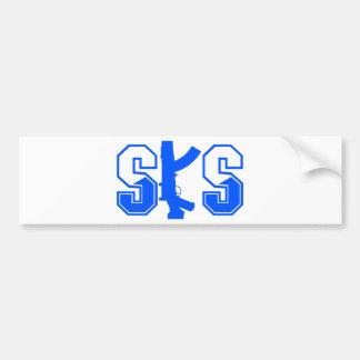SKS Sturmgewehr-Logo Blue.png Autoaufkleber