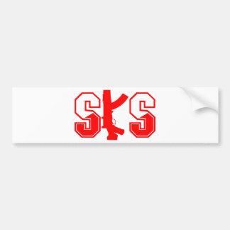 SKS Sturmgewehr-Logo Red.png Autoaufkleber