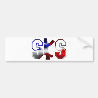 SKS Sturmgewehr-Logo-rotes Weiß und Blue.png Autoaufkleber