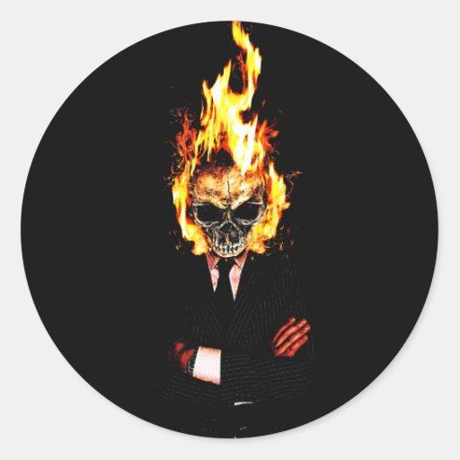 Skull man fire