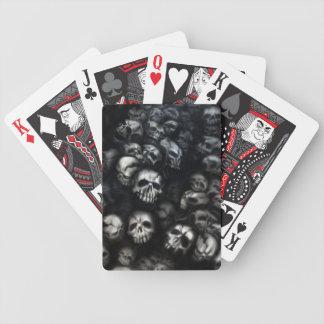 Skull poker set bicycle spielkarten