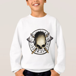 skull tribal Axe A Sweatshirt