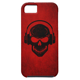 Skull with Headphones - Rave - Electro - Hardstyle Tough iPhone 5 Hülle