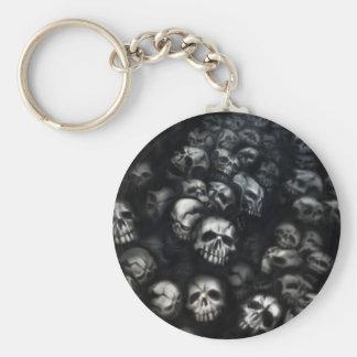 Skulls-Keychain/Schlüsselanhänger Standard Runder Schlüsselanhänger