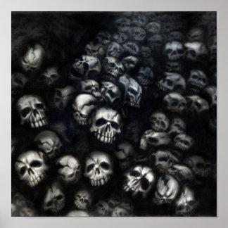 Skulls Leinwand Poster