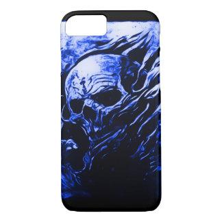 Skully Schädel-Blau-Sensenmann iPhone 8/7 Hülle