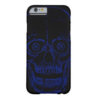 Skully Schädel-blauer Dämon-Schädel Barely There iPhone 6 Hülle