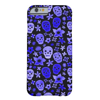 Skully Schädel-blauer Voodoo-Priester Barely There iPhone 6 Hülle