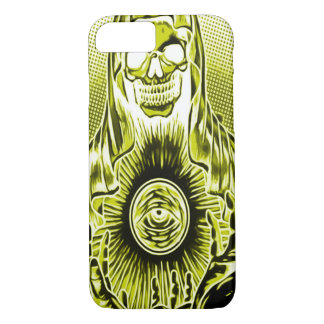 Skully Schädel-Retro Goldtod iPhone 8/7 Hülle