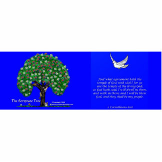 Skulptur 6:16 mit 2 Korinthern mit Stand Freistehende Fotoskulptur
