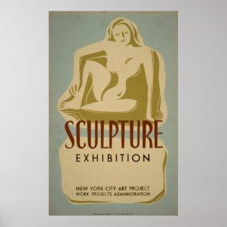 Skulptur-Ausstellungs-New- York Citykunst-Projekt Poster