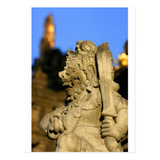 Skulptur Ubud Bali des hindischen Tempels Postkarte