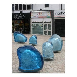 Skulptur, Zeder quadratisches Blackpool Postkarte