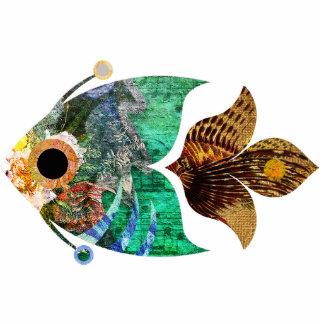 Skulptur Zoll des Fisch-Collagen-Spaßes 2x3 Freistehende Fotoskulptur