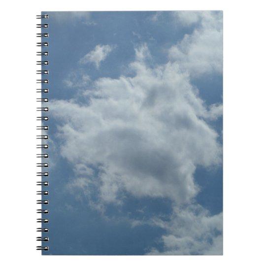 Sky Wolken Foto-Notizbuch (80 linierte Seiten S/W) Spiral Notizblock