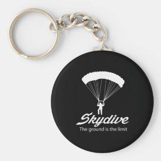 Skydive der Boden ist die Grenze Schlüsselanhänger