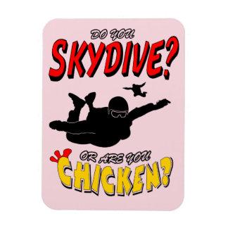 Skydive oder Huhn? (Schwarzes) Magnet