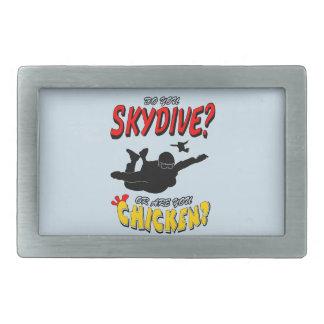 Skydive oder Huhn? (Schwarzes) Rechteckige Gürtelschnalle
