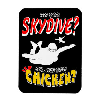 Skydive oder Huhn? (weiß) Magnet