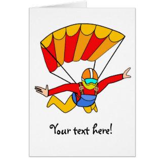 Skydive roter Yello Fallschirm Grußkarte