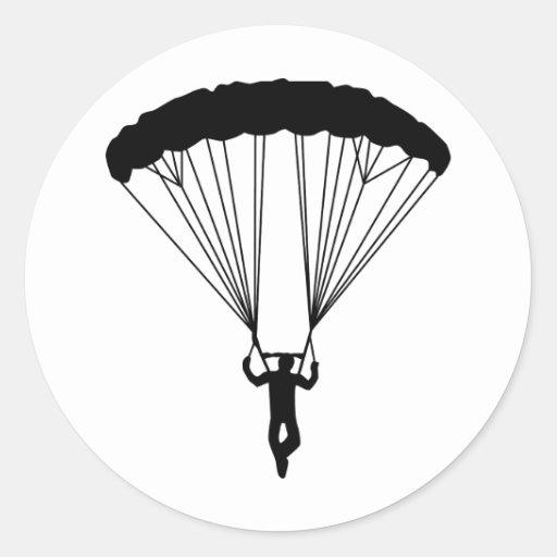 Skydiver-Silhouette Aufkleber