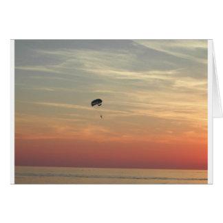 Skydiving Grußkarte