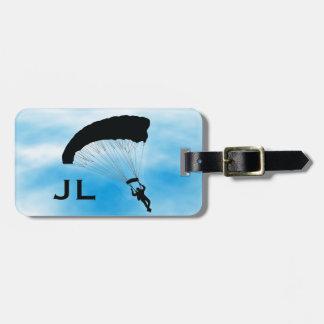 Skydiving mit Fallschirm Kofferanhänger