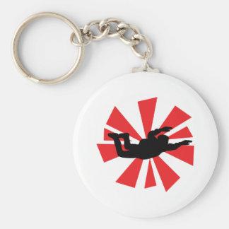 skydiving Skydiverikone Schlüsselanhänger
