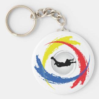 Skydiving Tricolor Emblem Schlüsselanhänger