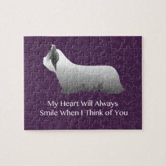Skye Terrier, das an Sie Entwurf denkt Puzzle