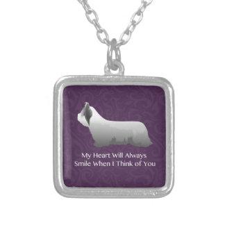 Skye Terrier, das an Sie Entwurf denkt Versilberte Kette