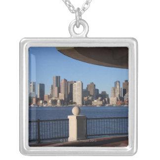 Skyline 2 Bostons, Massachusetts Versilberte Kette