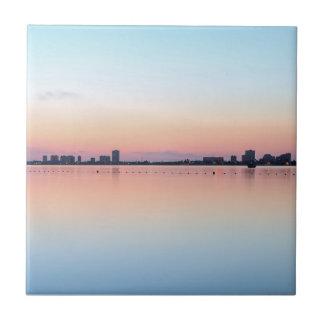 Skyline 5 Uhr morgens Keramikfliese