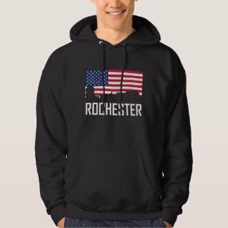 Skyline-amerikanische Flagge Rochesters Minnesota Hoodie