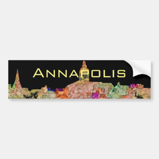 Skyline Annapolis Maryland SG-Verblaßten Ruhm Autoaufkleber
