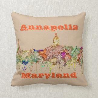 Skyline Annapolis Maryland SG-Verblaßten Ruhm Kissen