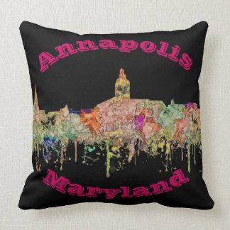 Skyline Annapolis Maryland SG - verblaßter Ruhm Kissen