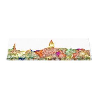 Skyline Annapolis Maryland SG - verblaßter Ruhm Leinwanddruck