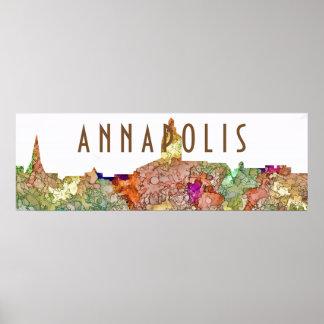 Skyline Annapolis Maryland SG - verblaßter Ruhm Poster