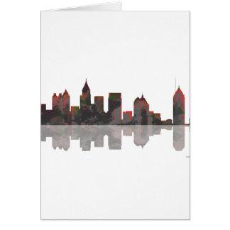 Skyline Atlantas Georgia Karte