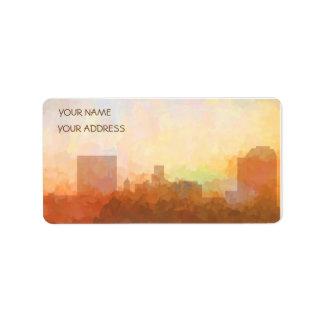 SKYLINE AUGUSTAS, GEORGIA - Wolke-Geschäft Karten Adressaufkleber