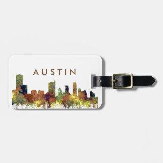 Skyline Austins Texas SG-Safari Büffelleder Gepäckanhänger