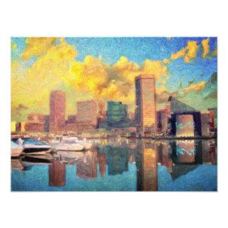 Skyline Baltimores Maryland Fotodruck