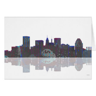 Skyline Baltimores Maryland Karte